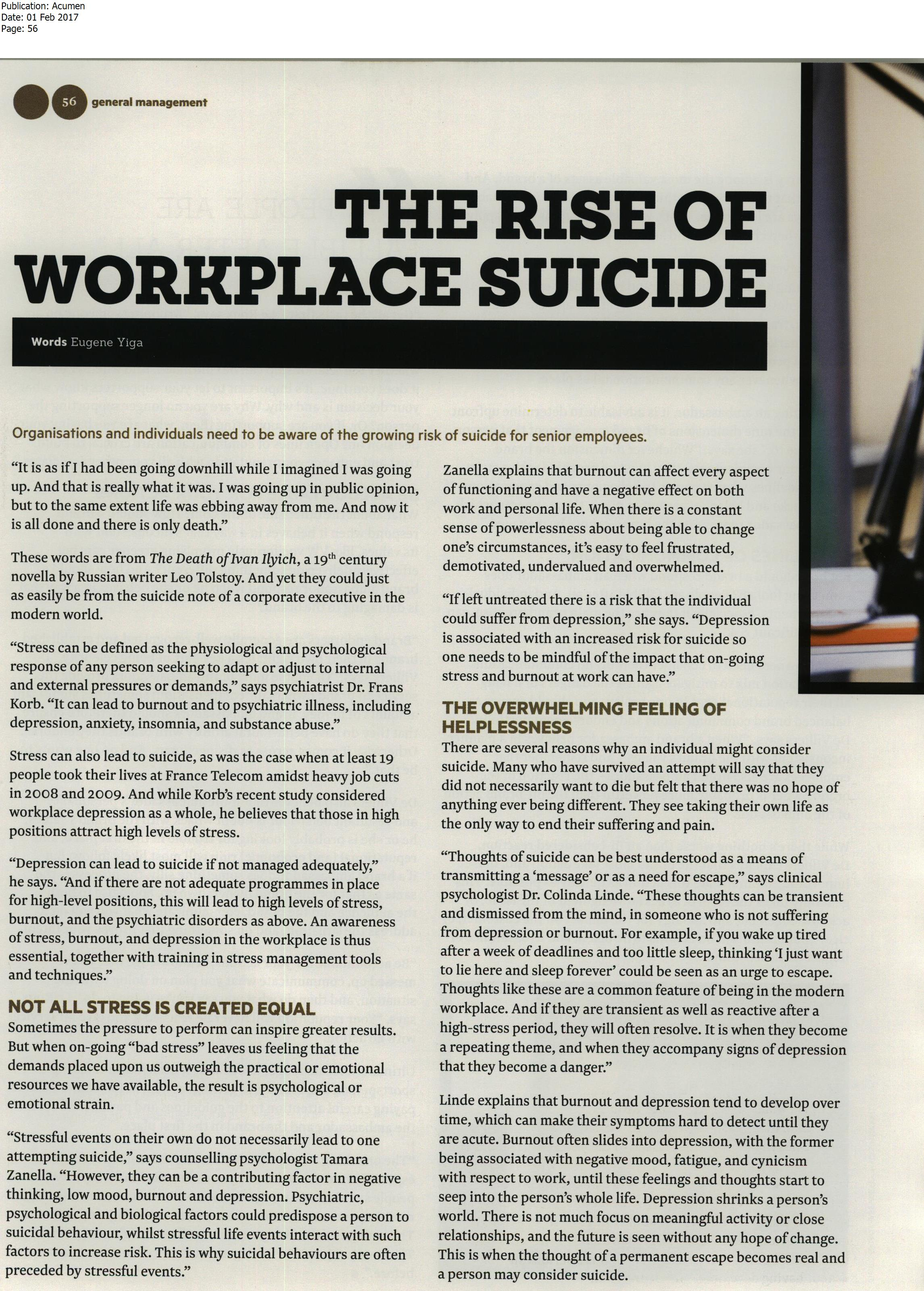 rise of workplace suicide 1