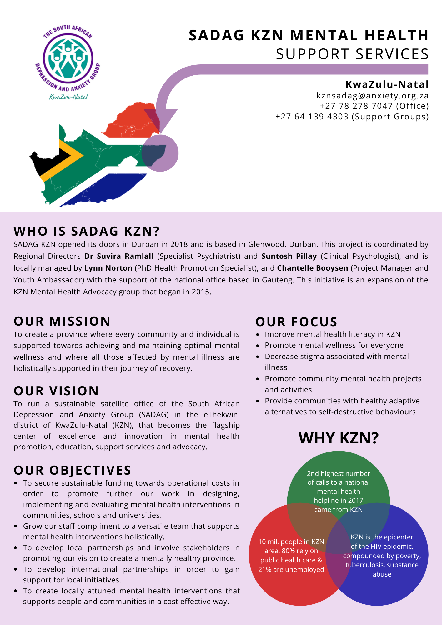 SADAG KZN WEBSITE INFO 2019 FINAL