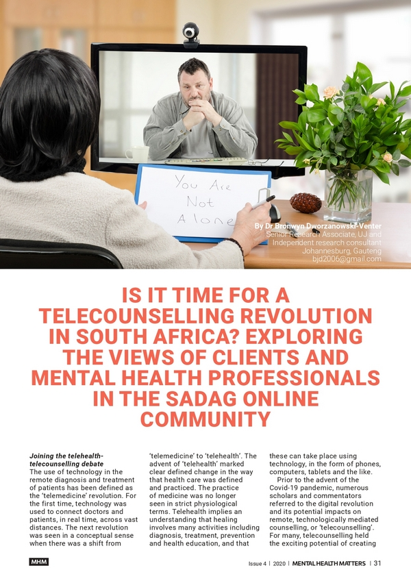 Is it time for a Telecounselling Revolution in South Africa?