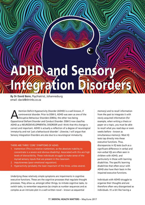 ADHD and sensory integration disorders1